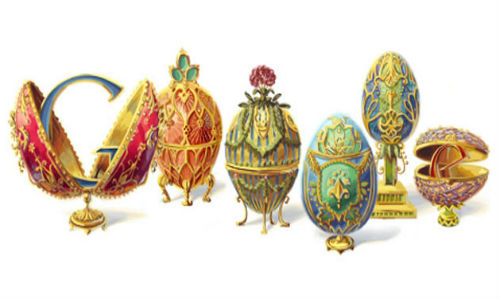 Google doodles Peter Carl Faberge's 166th birthday