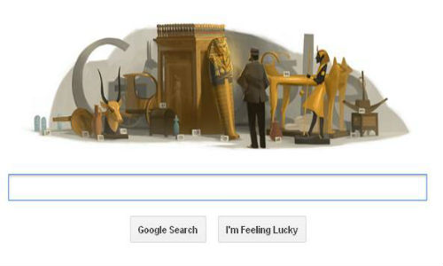 Google doodles birthday of Howard Carter