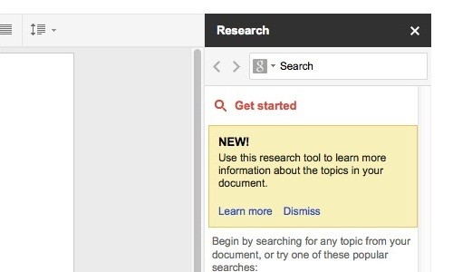 How to use Research tool on Google Drive?