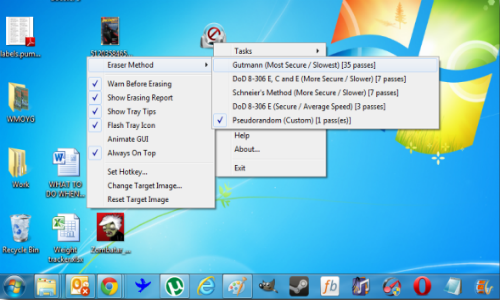 How to delete files permanently using EraserDrop?