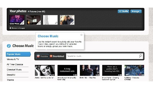 How to create and share photo slideshows with music?