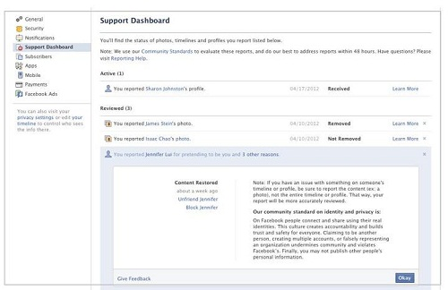 How to get more secured on Facebook with Support Dashboard?
