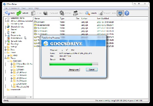 How to manage Google doc files with GDocsDrive?