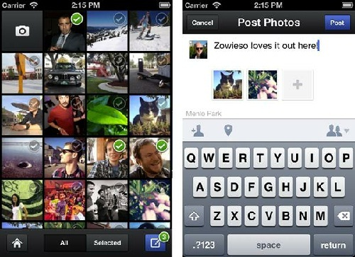How to use the new Facebook Camera App?