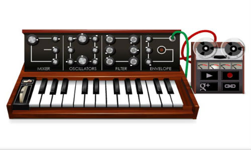 Musical Google doodle for Robert Moog's 78th birthday [Video]