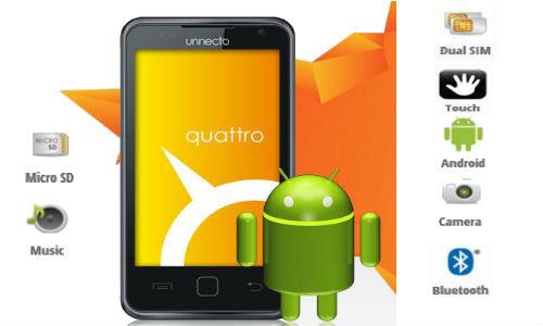 Unnecto Quattro, a Dual SIM Italian wonder phone