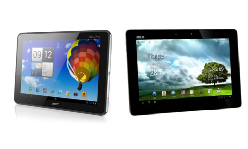 Comparison of Acer Iconia A510 and Asus Transformer TF300 Pad