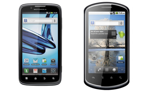Comparison of Motorola Atrix 2 and Huawei Ideos X5 Pro