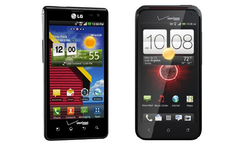 Comparison of LG Lucid 4G and HTC Droid Incredible 4G