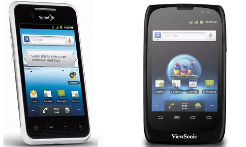 Comparison of LG Optimus Elite and ViewSonic ViewPhone 3