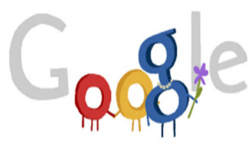 Google doodle wishes Happy Mother's Day