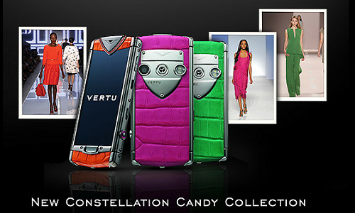 Constellation premium range Candy Phones from Vertu