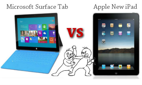 Comparison: Microsoft Surface Tablet and Apple New iPad