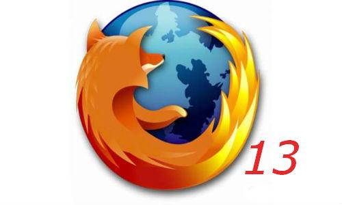 Download Mozilla Firefox version 13