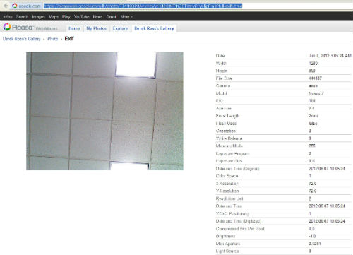 Rumor: Image taken using Google Nexus tablet pops up on Picasa