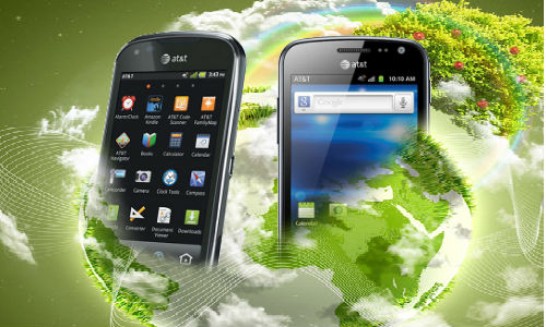 Samsung Exhilarate first smartphone with an eco friendly design