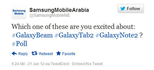 Samsung mentions Samsung Galaxy Note 2