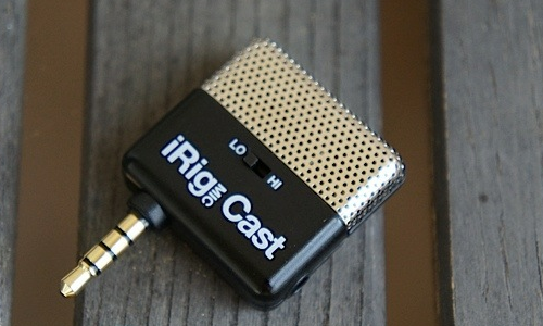 An ultra compact microphone for iOS devices, iRig MIC Cast