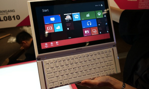 MSI Slider S20 Windows 8 hybrid tablet with Ivy Bridge processor