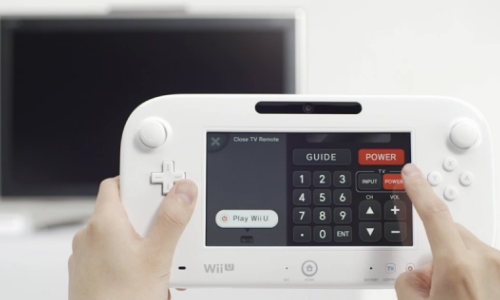 New Wii U game pad cum infrared TV remote from Nintendo