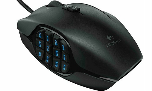Logitech G600 gaming mouse with button controls