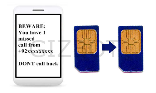 Beware of SIM card cloning missed calls!