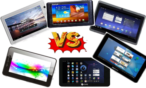 Comparison of budget tablets