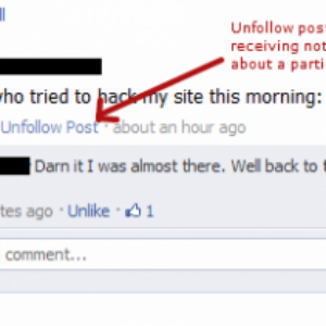 How to unfollow Facebook posts after commenting?