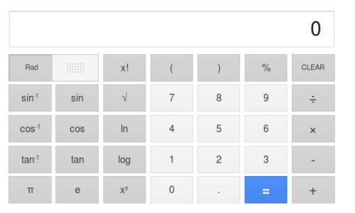 Google adds virtual scientific calculator on search
