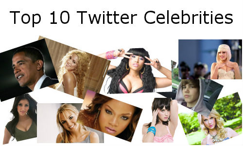 Top 10 most followed Celebrities on Twitter
