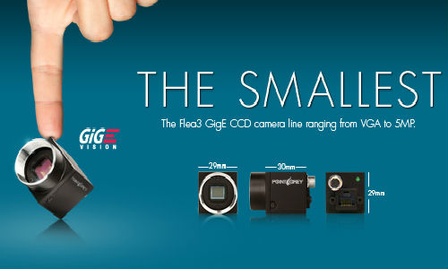 World's smallest USB camera from Point Grey