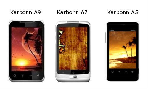 Karbonn launches A9, A7, A5 smartphones