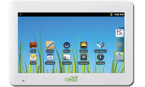 Cydle Multipad M7/Edifi: World's first Christian tablet on Gingerbread OS