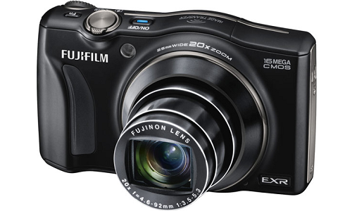 Fujifilm FinePix F800EXR camera with wireless photo transfer feature