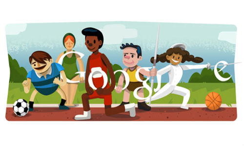 Google doodles opening ceremony of Olympic Games 2012