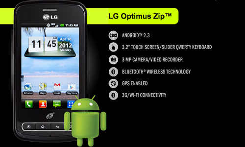 LG Optimus Zip: An Android QWERTY smartphone