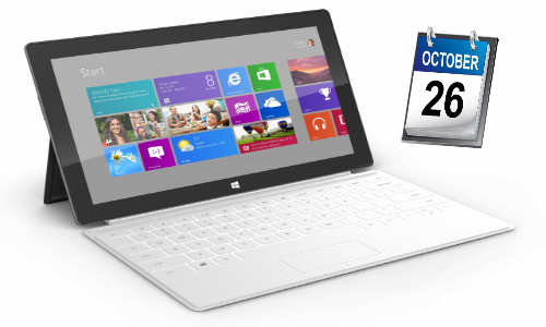 Microsoft Surface: Report Confirms tablet to arrive October 26 alongside Windows 8