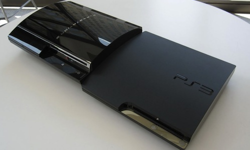 A super slim PS3 model gaming console from Sony