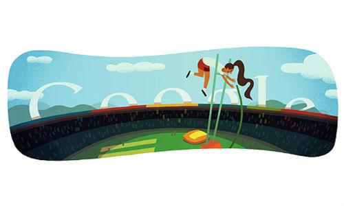 Google Doodle celebrates London 2012 pole vault [Video]