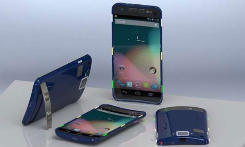 Google Nexus D Concept surfaces Online with Curved Display And Offbeat Design