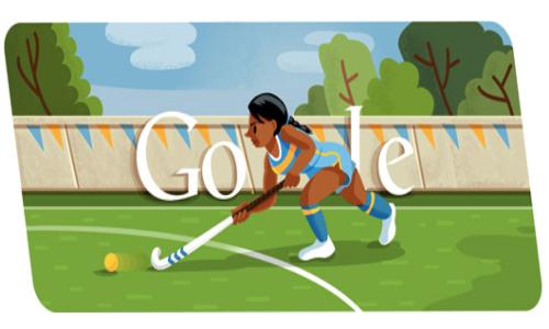 Google Doodle Celebrates London 2012 Hockey on Day 6