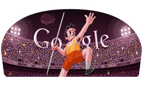 London 2012 Javelin: The 11th Google Doodle for Olympics