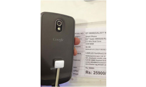 Samsung Galaxy Nexus Spotted in India For Rs 25,900?