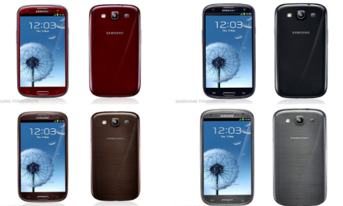 Samsung Galaxy S3: Brown, Red, Black and Grey Colors of the Handset Confirmed [Pictures]