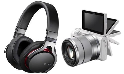Sony Debuts Wi-Fi enabled NEX-5R Camera, Premium MDR-1 Headphones