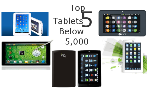Top 5 Android Tablets Below Rs 5,000 Range