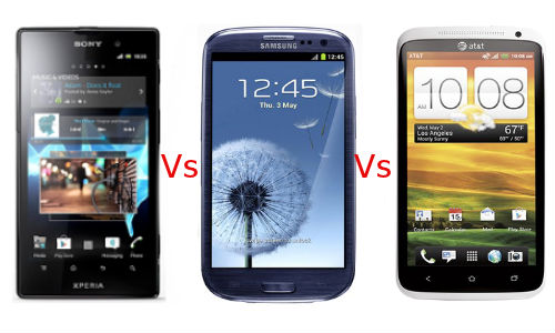 Sony Xperia Ion vs Samsung Galaxy S3 vs HTC One X: Clash of The Android Titans