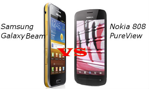 Samsung Galaxy Beam vs Nokia Pureview 808: Which Smartphone has Most Unique Specs?