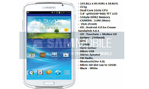 Samsung Galaxy Player 5.8 Spotted: New Media Player With 5.8-Inch Screen And Android ICS On its Way