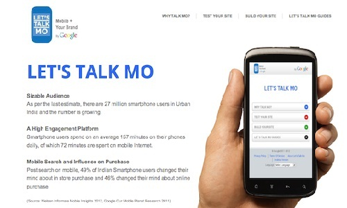 Google Let's Talk Mo service: Make Your Own Mobile Site